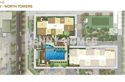 Cho thuê căn hộ Sunrise City X1 căn số 7 tầng cao.